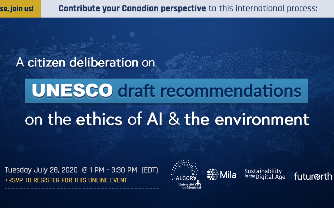 UNESCO is requesting a citizen deliberation on AI: We want to hear from Canadians