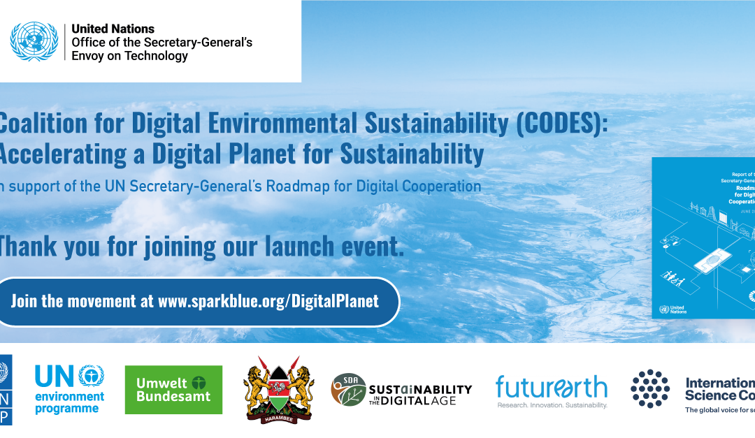 Coalition for Digital Environmental Sustainability (CODES) launched today
