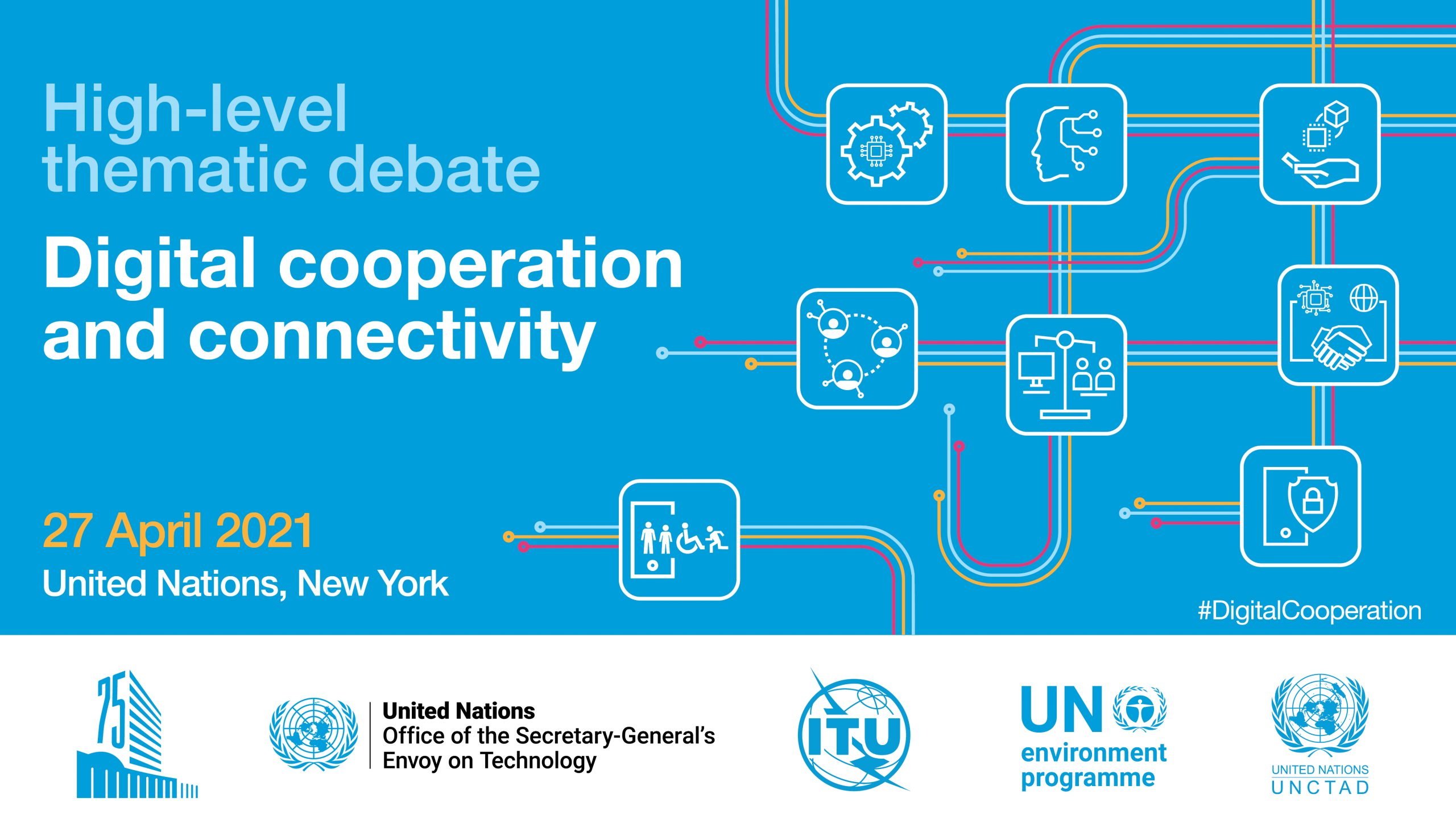Invitation to UN Debate on Digital Cooperation and Connectivity April 27