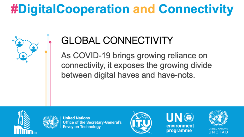 Global Connectivity. As COVID-19 brings growing reliance on connectivity, it exposes the growing divide between digital haves and have-nots.